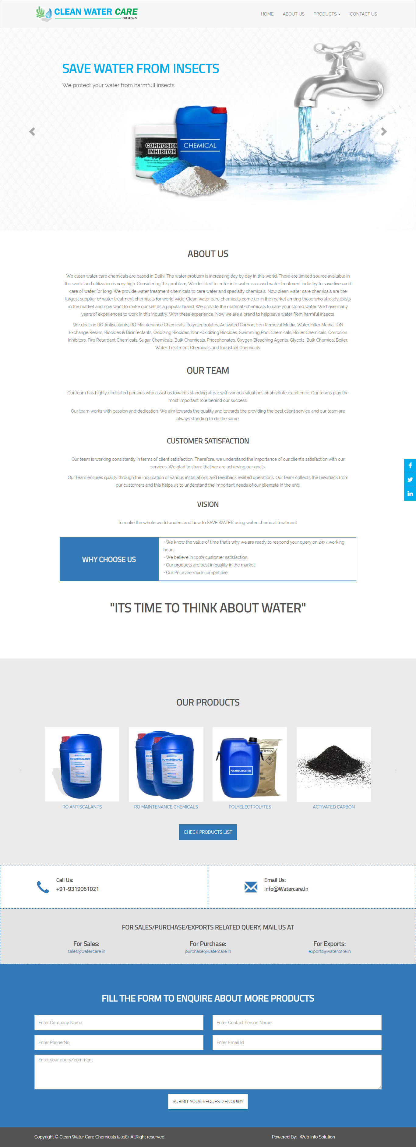 Water Care - Web Info Solution